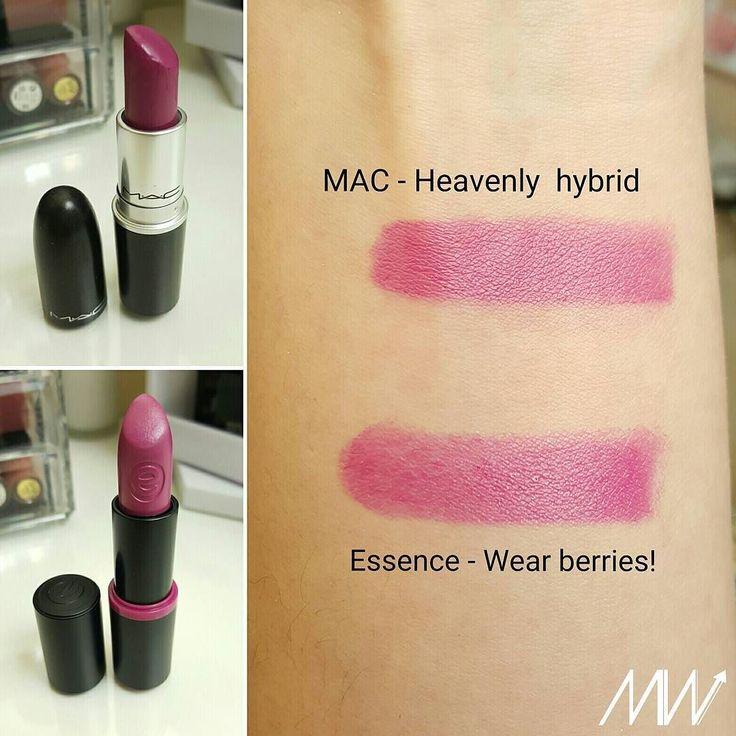 Alert Dupe !  MAC Heavenly hybrid lipstick and Essence Wear berries lipstick #lipstick #dupe #maccosmetics