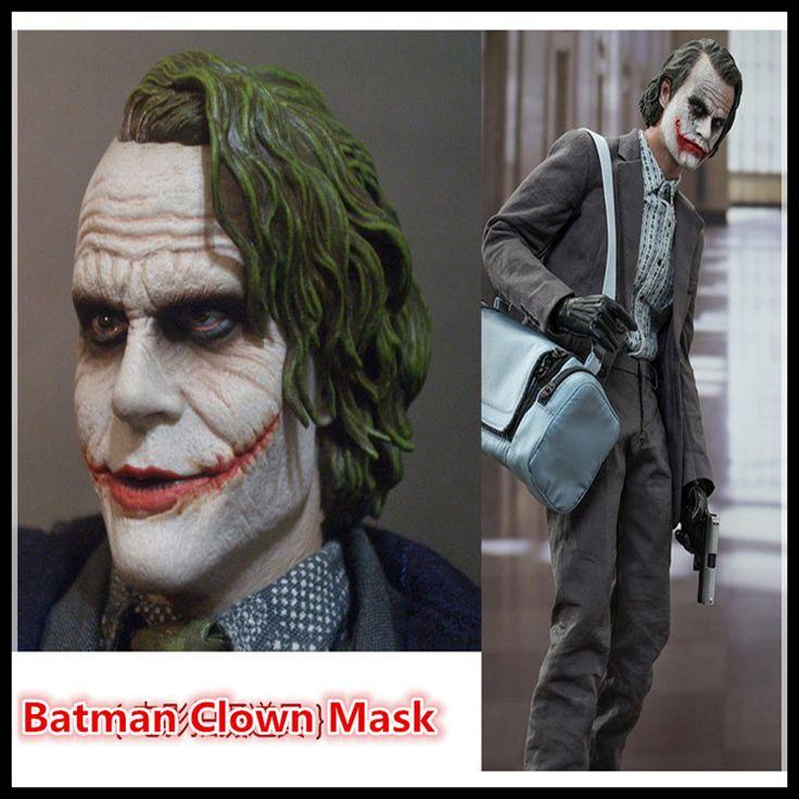 New100% Resin Batman Joker Clown Bank Robber Mask Dark Knight Costume Halloween Masquerade Party Fancy Resin Masks Free Shipping