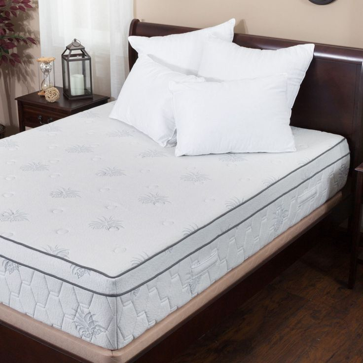Aloe Gel Memory Foam 13 Inch Queen Size Pillow Top Mattress By Christopher Knight