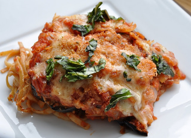Eggplant parmesan pasta bake!! Ready to pop in the oven tonight! Emi ...