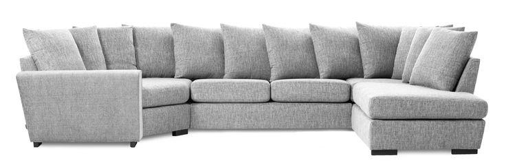 Friday är en rymlig soffa med bra komfort och lite högre ryggstöd. Denna variant är en 2-sits soffa med cosy hörn till vänster och divan till höger med lösa kuddar i ryggen. Du kan välja på olika armstöd och om du vill ha höga eller låga ben. De högre benen underlättar vid städning, samtidigt som det blir lättare att resa sig ur soffan. Friday finns att få i många tyger, läder och färgkombinationer. Köp gärna till en eller flera nackkuddar.