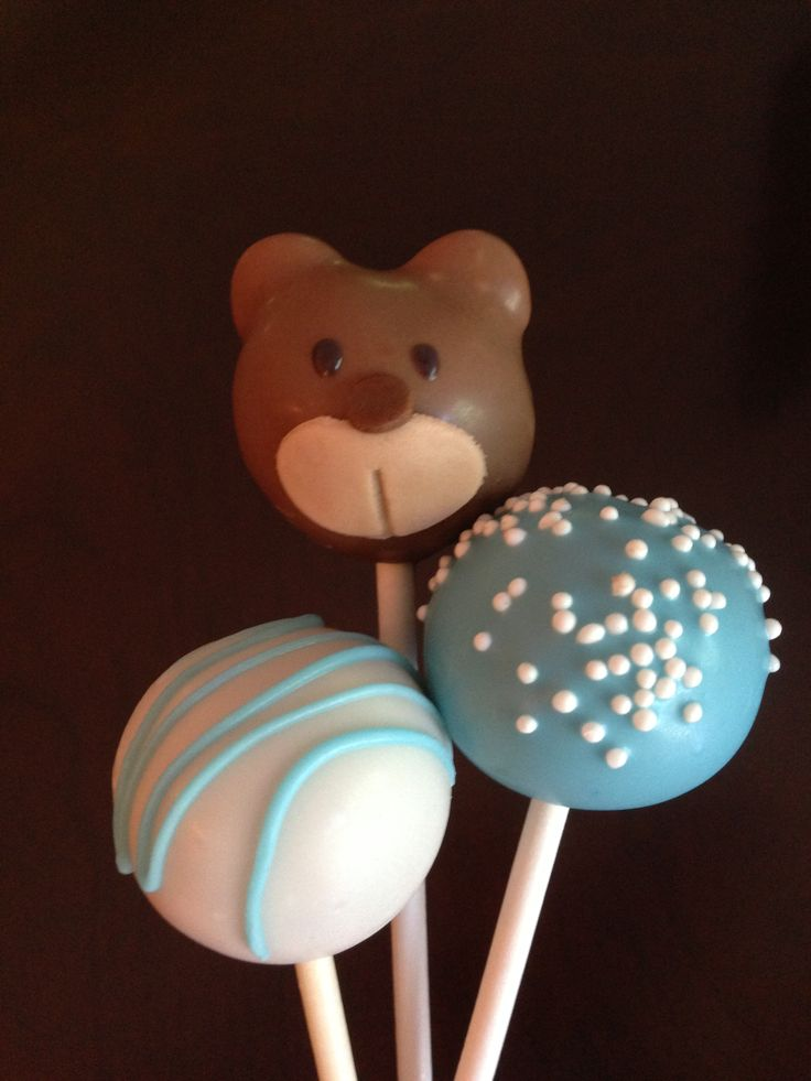 Teddy Bear Baby Shower Cake Pops