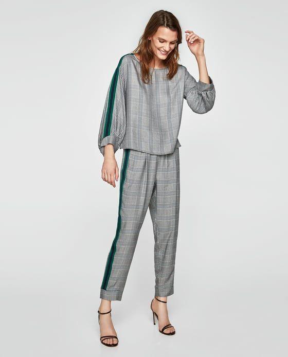 Modas Pantalón Zara Zara Lateral Jogger Pants Y Banda Outfit ZxxqTSfgw