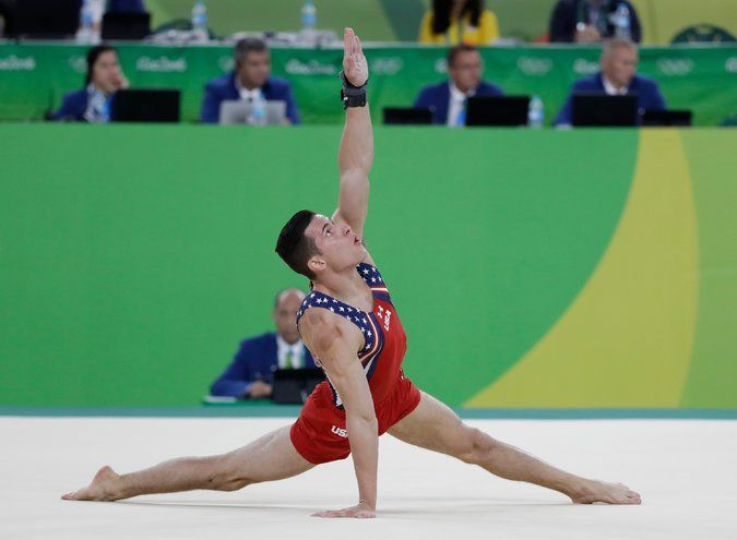 The American gymnast Alex Naddour competing in the men's team final. Credit  Rebecca Blackwell/Associated Press
