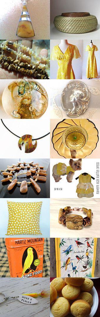 SunShiny Yellows by Anna on Etsy--Pinned with TreasuryPin.com