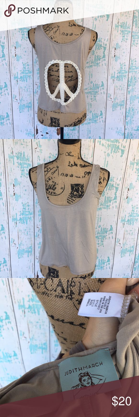 Judith March crop w/ peace sign open back small Judith March crop w/ peace sign open back size small Judith March Tops Crop Tops