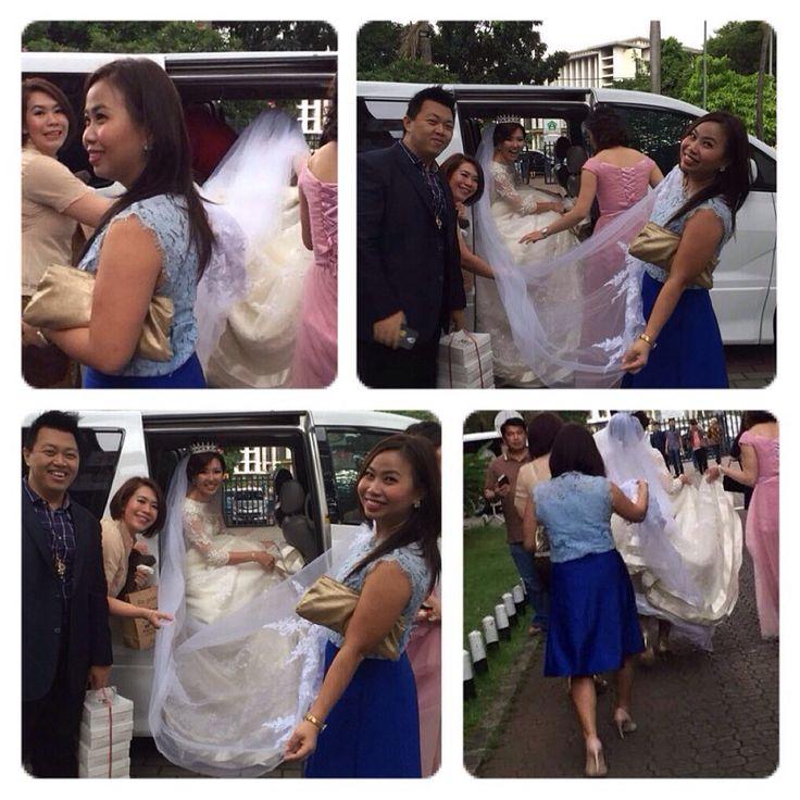 My best friend's wedding part 1 -- Bride's dress tail holder #Ephine'sBigDay
