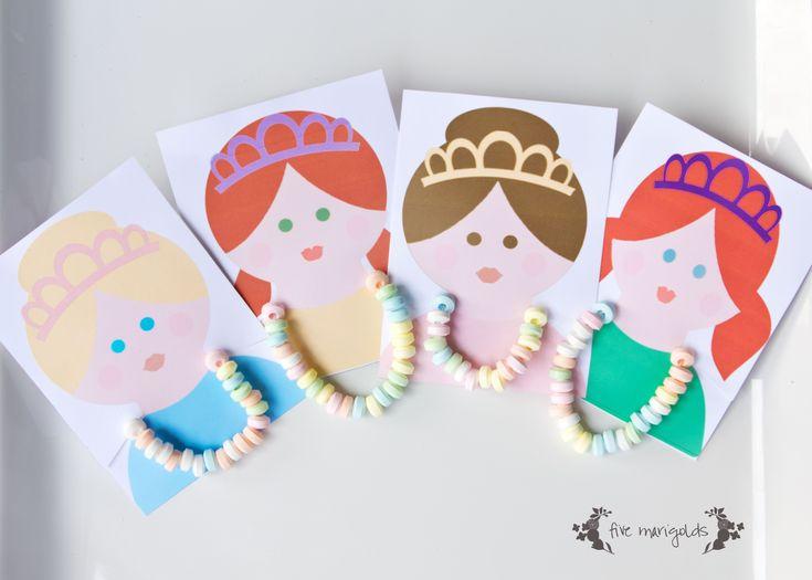 Princess Candy Necklace Party Favors   Five Marigolds