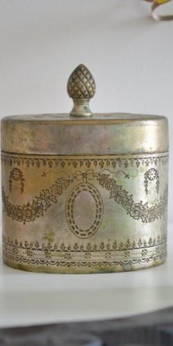 silver trinket box