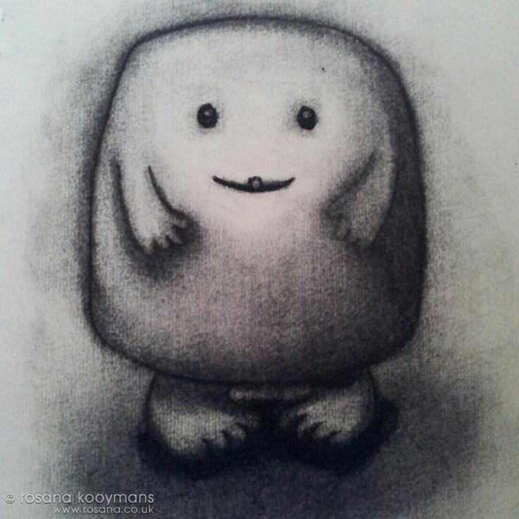 It's Adipose again! #doctorwho #adipose #whoniverse #charcoal #drawing #art #cute #houtskool #tekening #kunst