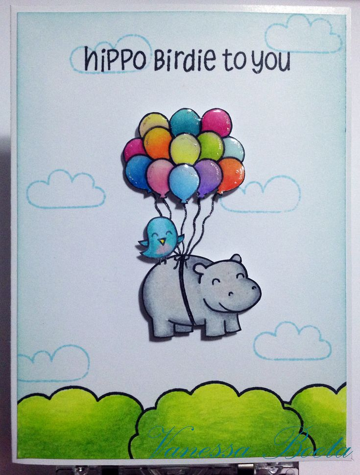 42 best hippo birthday images on pinterest lawn fawn stamps hippo birdie to you by vboeta cute birthday cardsgift bookmarktalkfo Image collections
