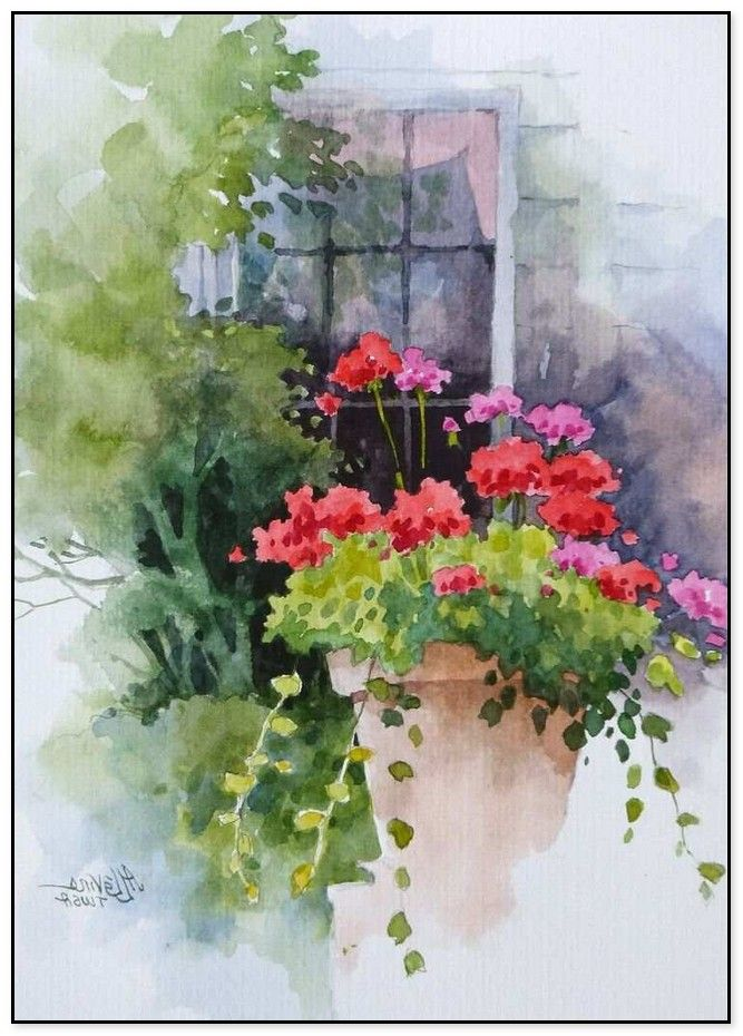 48 Simple Watercolor Painting Ideas Home Design Real Watercolor Paintings For Beginners Watercolor Flowers Flower Painting