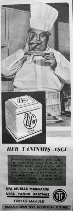 OĞUZ TOPOĞLU : ufa margarin 1959 nostaljik eski reklamlar 5