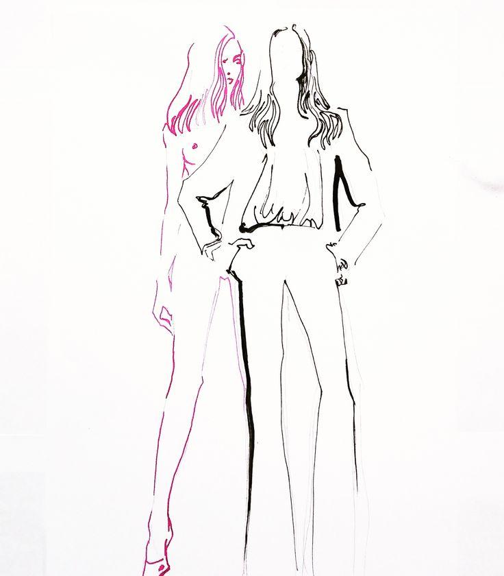 fashion illustration Helmunt Newton  by Wioleta Bąbol