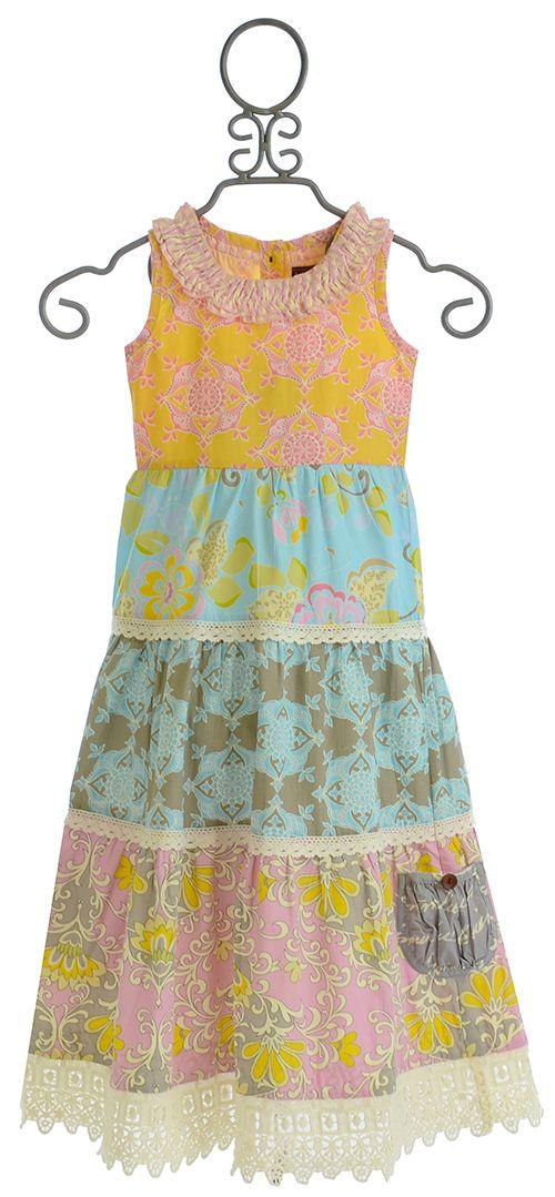 Mustard Pie Jolie Maxi Dress for Girls