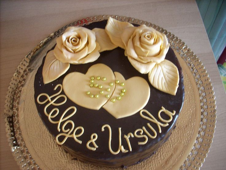Torten Deko Goldene Hochzeit 1 Schmuck Mit Gravur