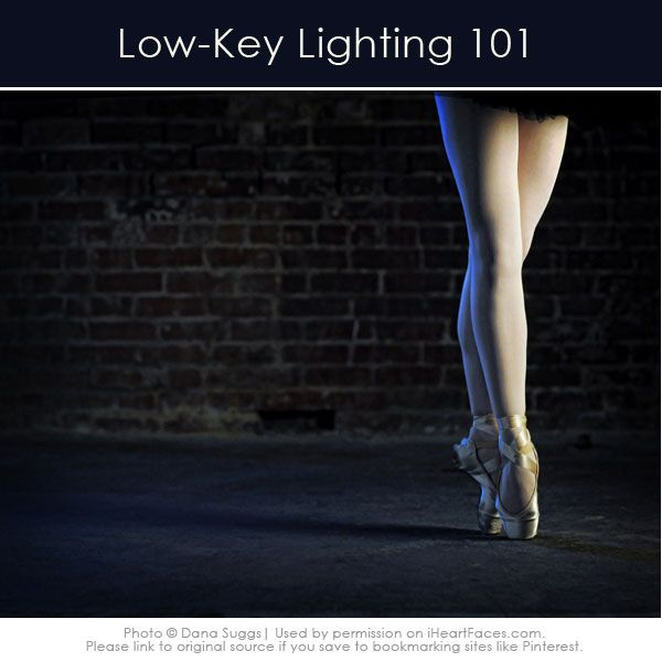 Get started with Low-Key Lighting in your #photography!  Simple tips from iHeartFaces.com.