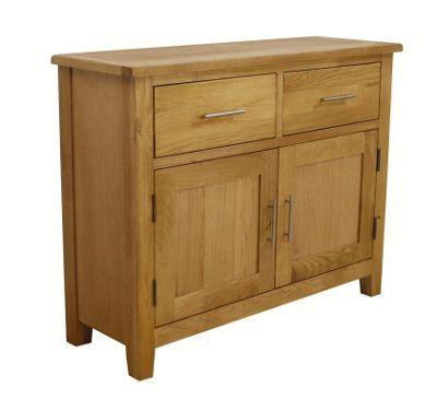Image of Nebraska Modern Oak Sideboard / Small Oak 2 Door 2 Drawer Sideboard