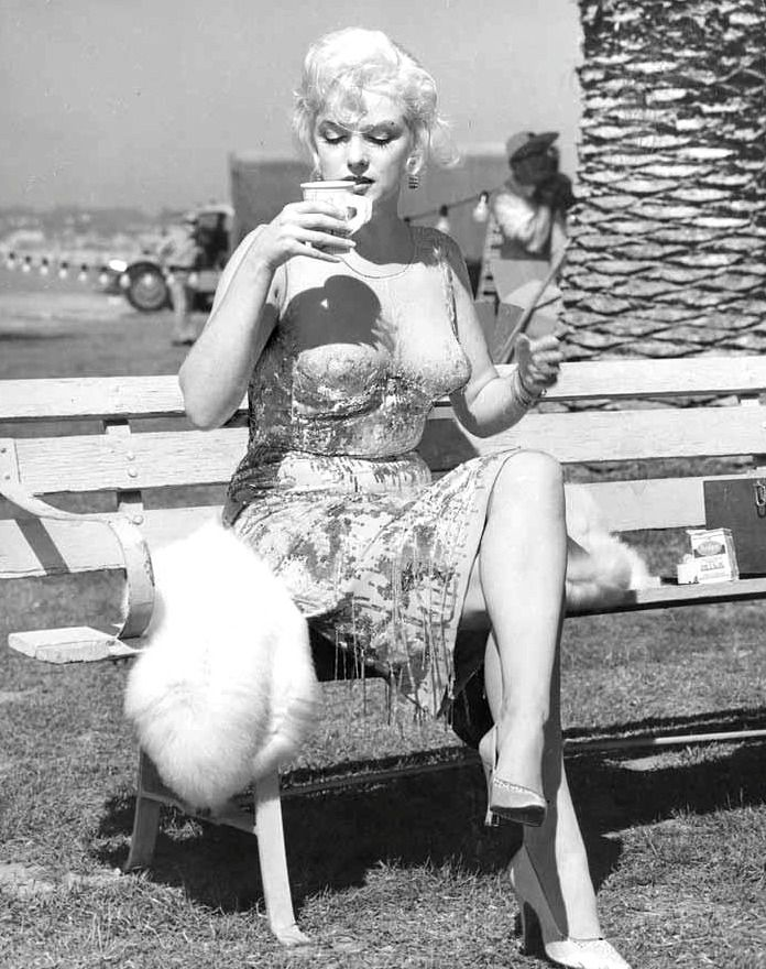 — Marilyn Monroe on the set of Some Like It Hot,...