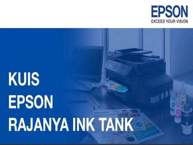Kuis Epson Rajanya Ink Tank Agustus 2016 Berhadiah Voucher 200K - Hai sobat MisterKuis! Yuk ikuti kuis Epson Rajanya Ink Tank dan menangkan hadiah