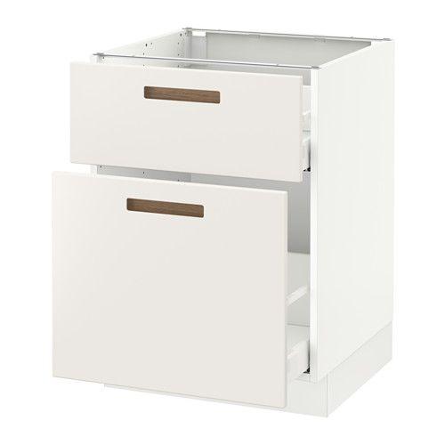 "SEKTION Base cabinet/p-out storage/drawer - white, Märsta white, 24x24x30 "" - IKEA"