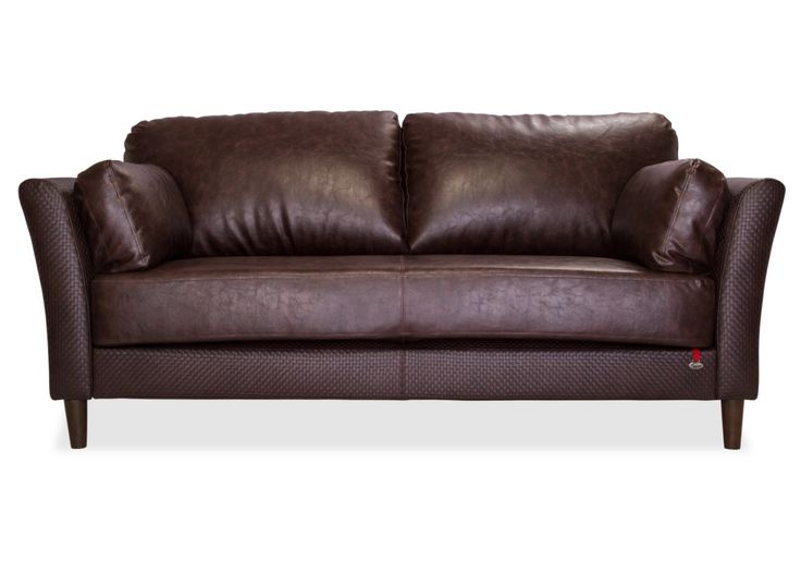 The base of the Richmond 3 Seater Leatherette Sofa is one long cushion with a center stitch detail thats eye catching. Richmond sits comfortably in any home.