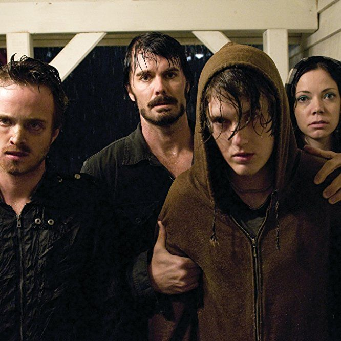 Spencer Treat Clark, Garret Dillahunt, Aaron Paul, and Riki Lindhome in The Last House on the Left (2009) - Click to expand