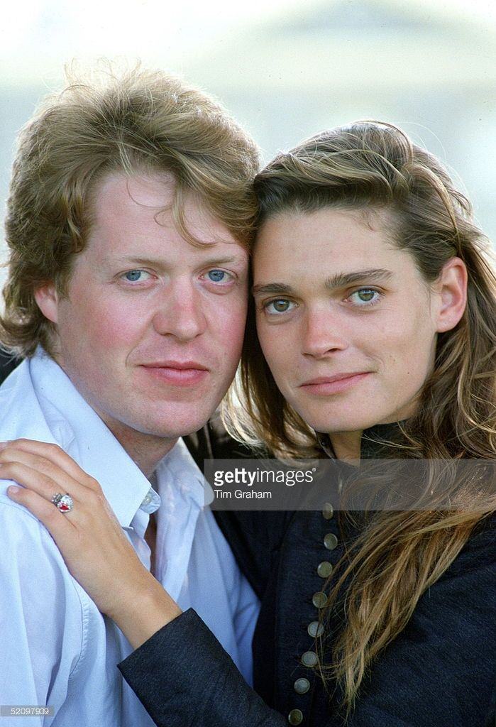 Viscount Althorp (charles Spencer) With His Fiancee, Model Victoria Lockwood, In The Grounds Of The Spencer Family Home After Announcing Their Engagement.