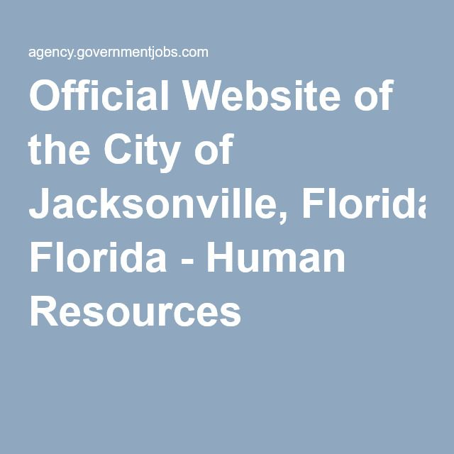 Official Website of the City of Jacksonville, Florida - Human Resources