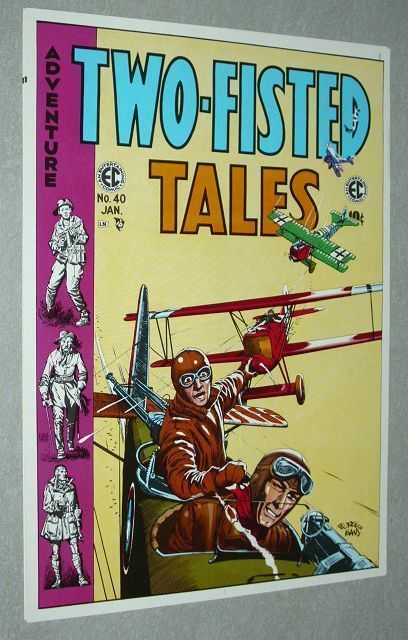 Vintage original 1970s EC Comics Two-Fisted Tales 40 World War comic book poster