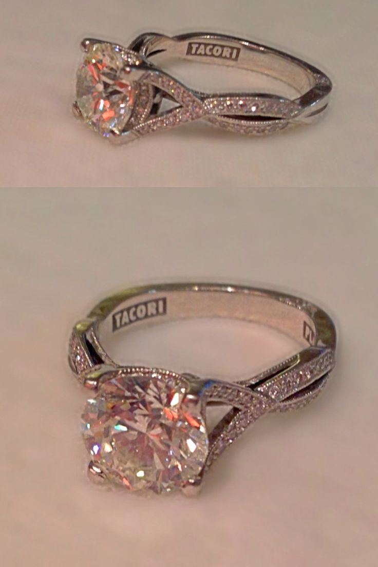 my amazing engagement ring tacori style 2565 platinum setting with a 250 carat round - Amazing Wedding Rings