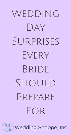 28 Wedding Surprises Every Bride Should Prepare For