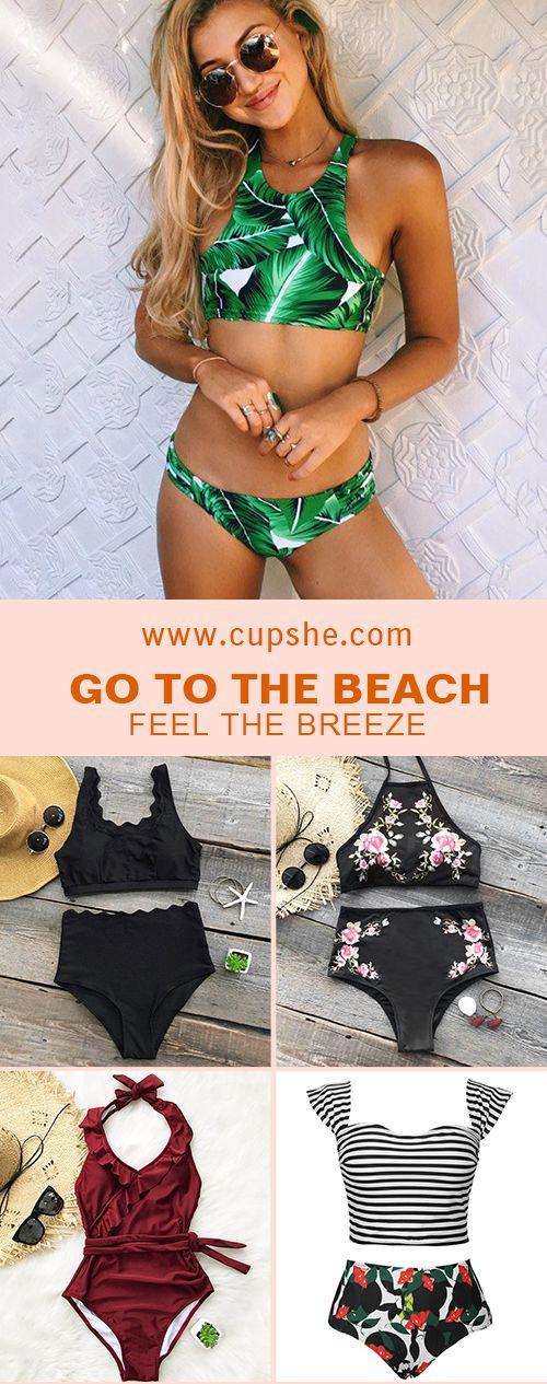 Calling all the trendsetting babes: Try Cupshe bikinis and go to any beach, pool, or the like, you will stand from the crowd! Cupshe swimsuits are everything but boring~ Free shipping! Check now!