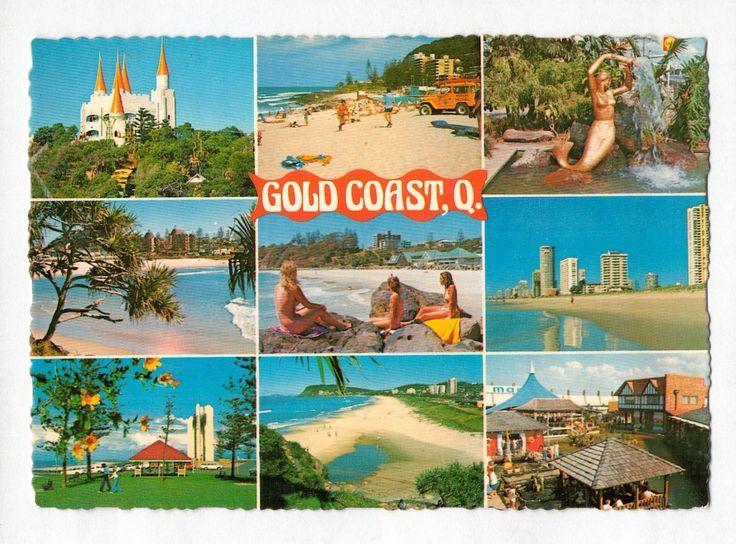 E0417cgt Australia Q Gold Coast MV c1981 Multiview postcard | eBay