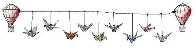 Todos os tamanhos   Origami Cranes on a Line   Flickr – Compartilhamento de fotos!