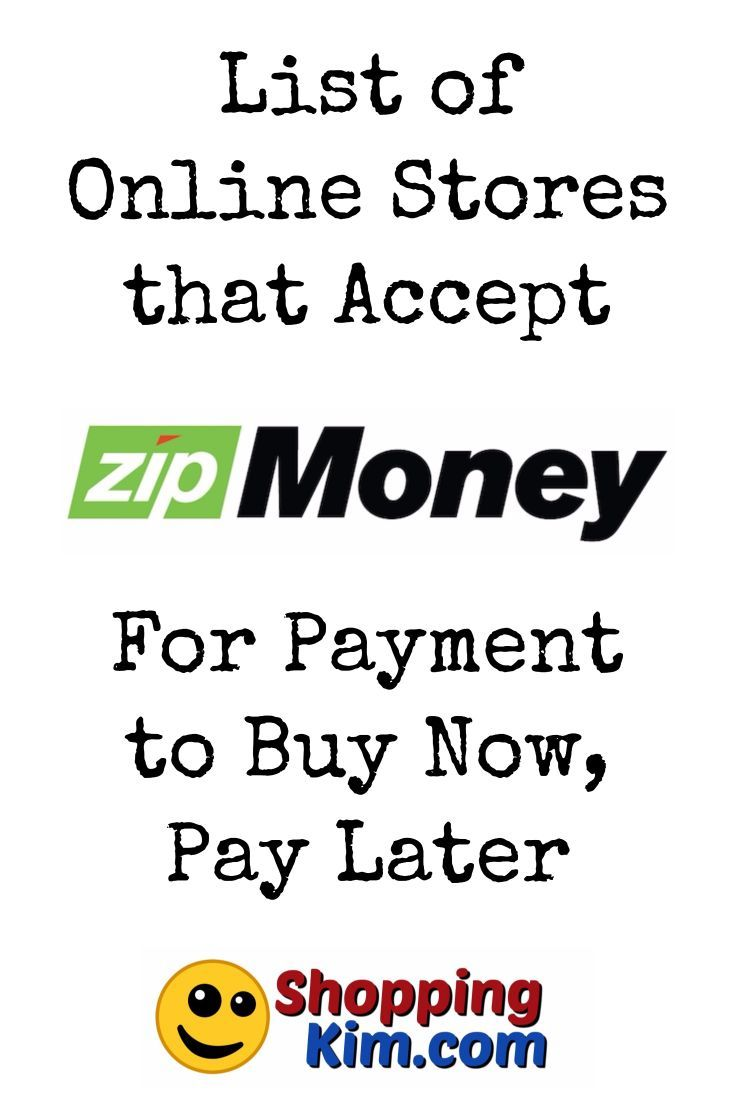 Online Stores That Accept Zip Money To Buy Now, Pay Later