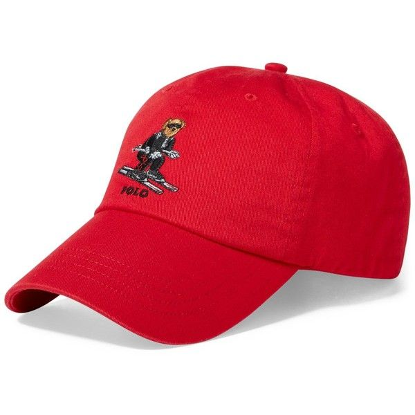 Polo Ralph Lauren Men's Polo Bear Ski Cotton Cap ($50) ❤ liked on Polyvore featuring men's fashion, men's accessories, men's hats, ralph red, mens ski caps, mens caps, mens red hats, polo ralph lauren mens hats and mens red baseball cap