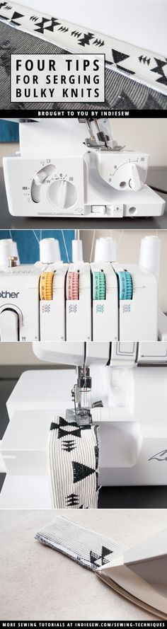 Find out how to avoid the dreaded wavy seam when sewing thick knit fabrics like French terry, sweater knits and sweatshirt fleece. | Indiesew.com