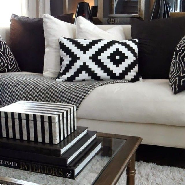 Black And White Focal Point Styling Find This Pin More On Living Room Inspiration