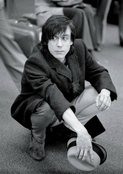 Iggy Pop waiting for his flight back to L.A. at San Francisco International Airport, 1979.