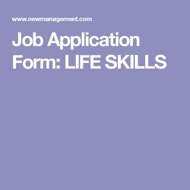 Más de 25 ideas increíbles sobre Application form en Pinterest - employment application form