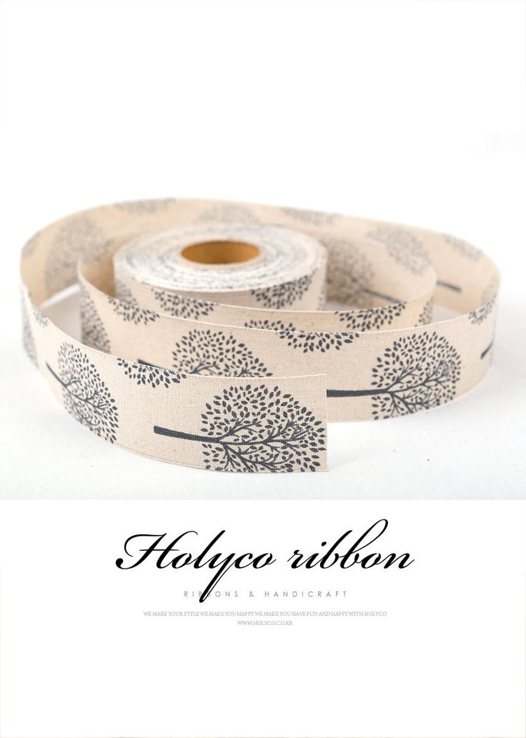 """Magic Tree Linen Ribbon / 1.5"""" (40mm) / 100% natural fibers / made in Korea by HOLYCO on Etsy"""