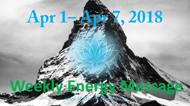 Don't let events sway you!! Weekly Energy Message for the week of April 1, 2018 thru April 7, 2018