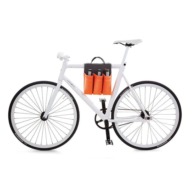 I should totally get this for MK . . . wish the price was a little lower!  6 PACK BIKE BAG | Bicycle Bottle Carrier | UncommonGoods