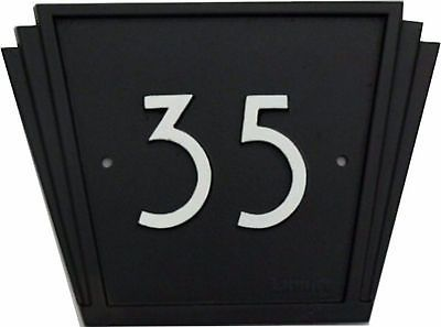 Cast Iron Art Deco House number sign 1930s 1940 door plaque number plate in Plaques & Signs | eBay