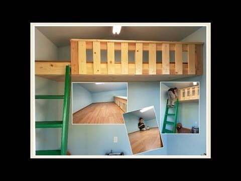 BUILD A LOFT BED WITH NO SUPPORT BEAMS!!! AND EXTRAS! - YouTube