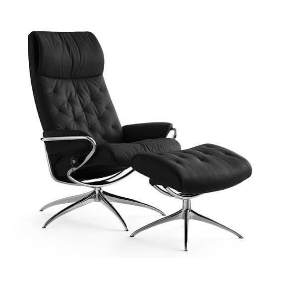 customizable Metro High-Back Reclining Chair and Ottoman  $2,695...3 mos lead...Not an Urban Legend: Recliners That Are Actually Attractive — Annual Guide 2017