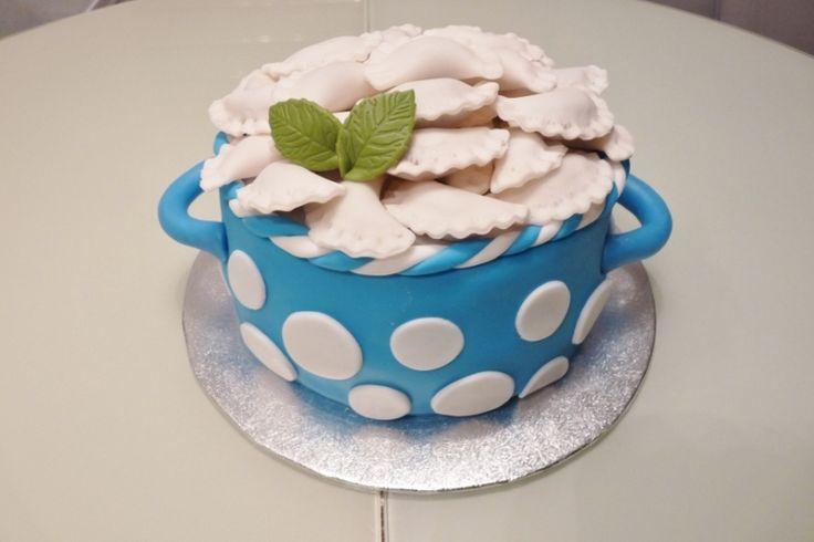торт - кастрюля с варениками
