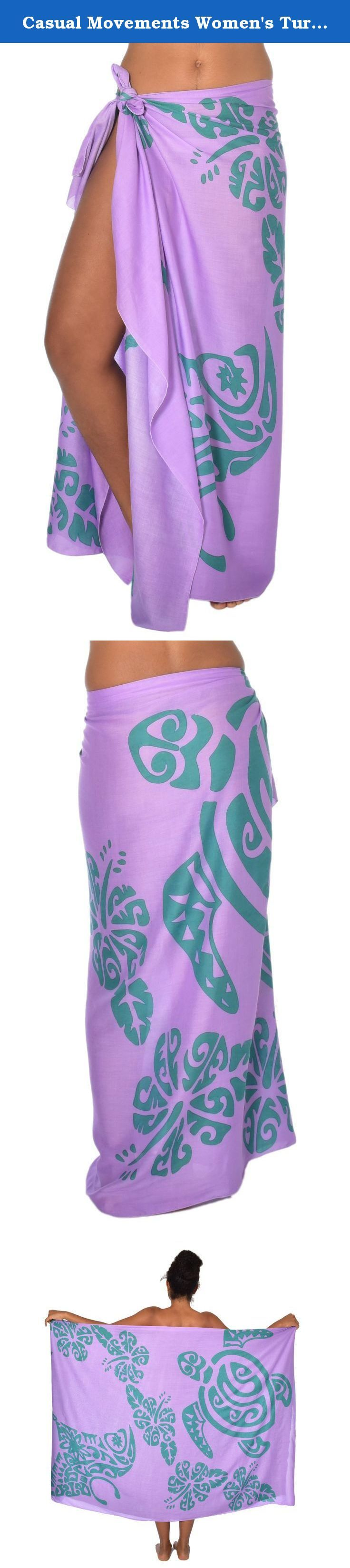 Casual Movements Women's Turtle & Stingray Tattoo Swimsuit Coverup Violet/Green. Beautiful wraps made of natural fabric in unique designs that can be worn in a variety of ways. A garment for all seasons and all body types.