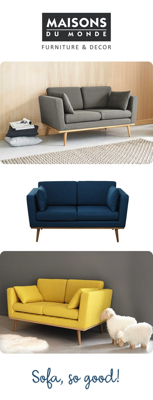 Retro, 1950s inspired 2 seater sofa in 3 versatile colour options, the Timeo sofa from Maisons Du Monde is the perfect centre piece for your living room. Take a seat and get comfortable!